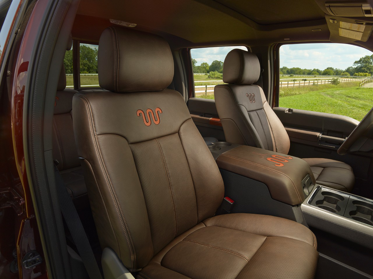 2015 Ford F-250 King Ranch Super Duty interior