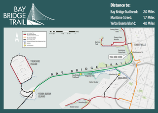 A map details a plan for the Bay Bridge bike and pedestrian path, which will eventually lead to Verba Buena Island. (Photo: Caltrans)