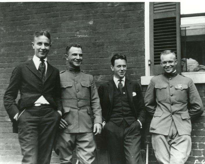 Eisenhower, far right, with three friends in 1919.