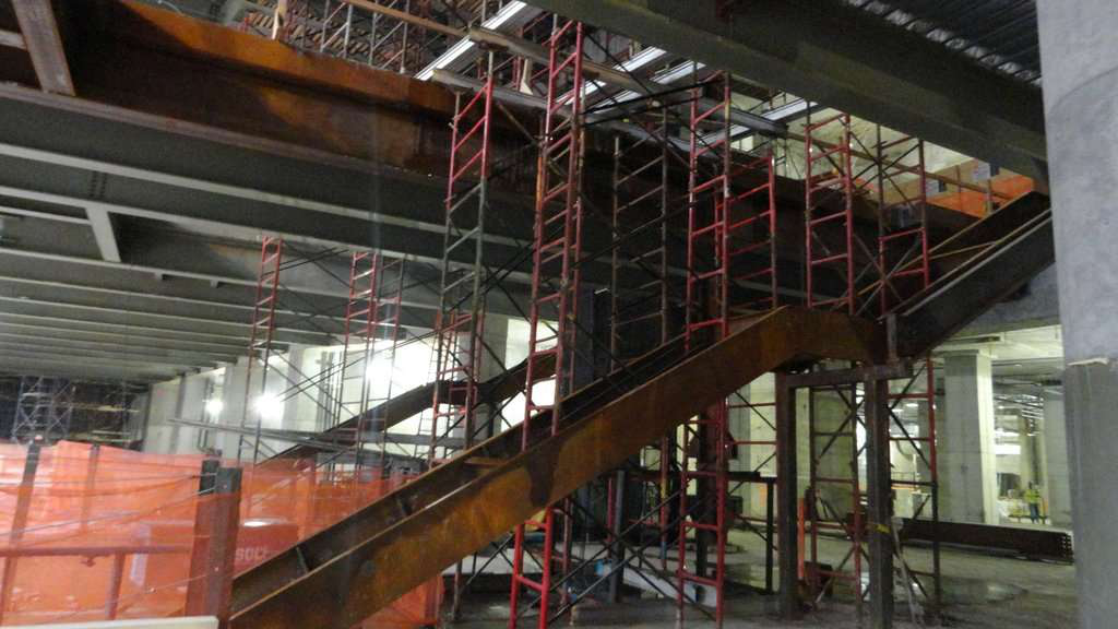 Inside construction of the New World Trade Center 10