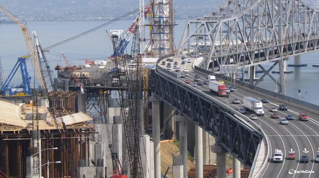 Oakland-San Francisco Bay Bridge time lapse construction video