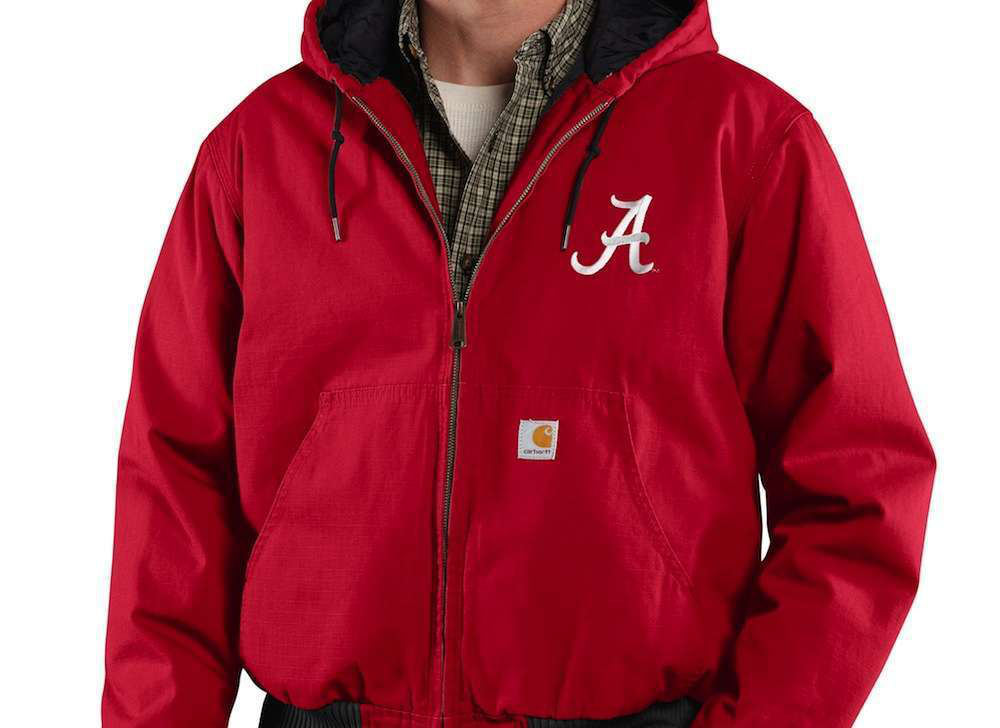 carhartt alabama crimson tide ripstop jacket