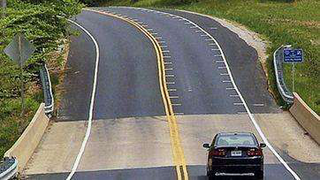 In the coming months, South Florida will begin testing a new technique to slow drivers. The technique, which involves spacing white lines at gradually closer intervals, has been tested other states such as Virginia (pictured) and Kansas. (Photo: Virginia Transportation Research Council, via the Sun-Sentinal)