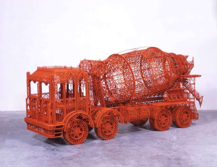 Wim Delvoye Gothic construction equipment