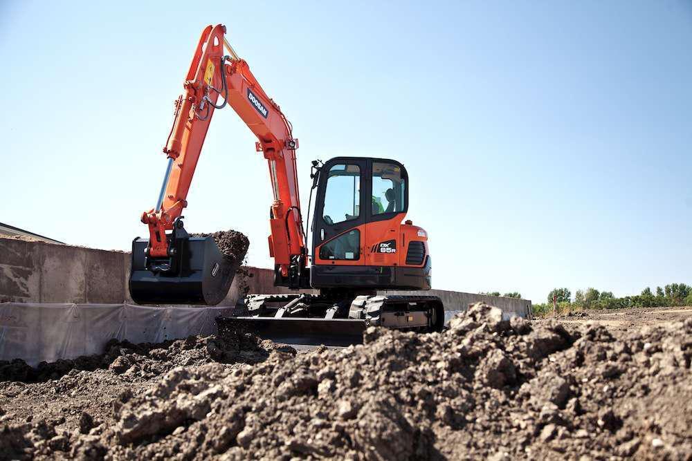 Doosan DX85R-3 excavator