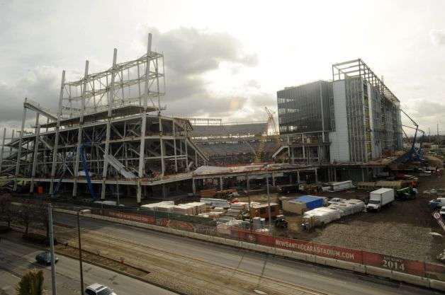 Construction site of Levi's Stadium