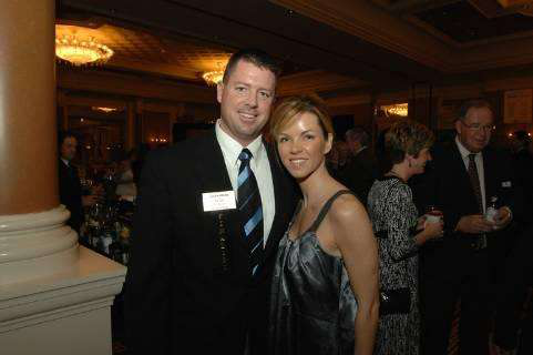 Alan and Amanda Bracken at the 2008 Contractor of the Year announcement.