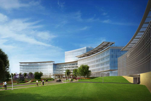 An artist's rendering of the new Eaton Corp. North American headquarters in Cleveland.
