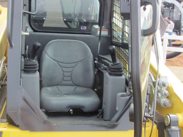 The updated cab in the S220R-1 is larger and has better visibility than its predecessors.