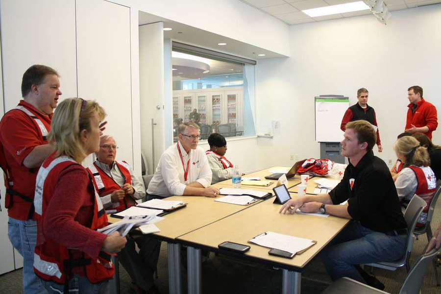 Operation Winter Storm exercise by The Red Cross this month. (Photo: Chicago Red Cross / Flickr)