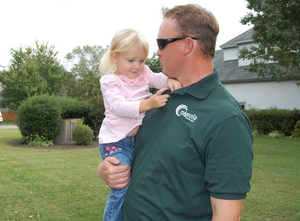 Magnolia Landscape's Matthew Gilligan with daughter Kiley. Credit: Amy Materson