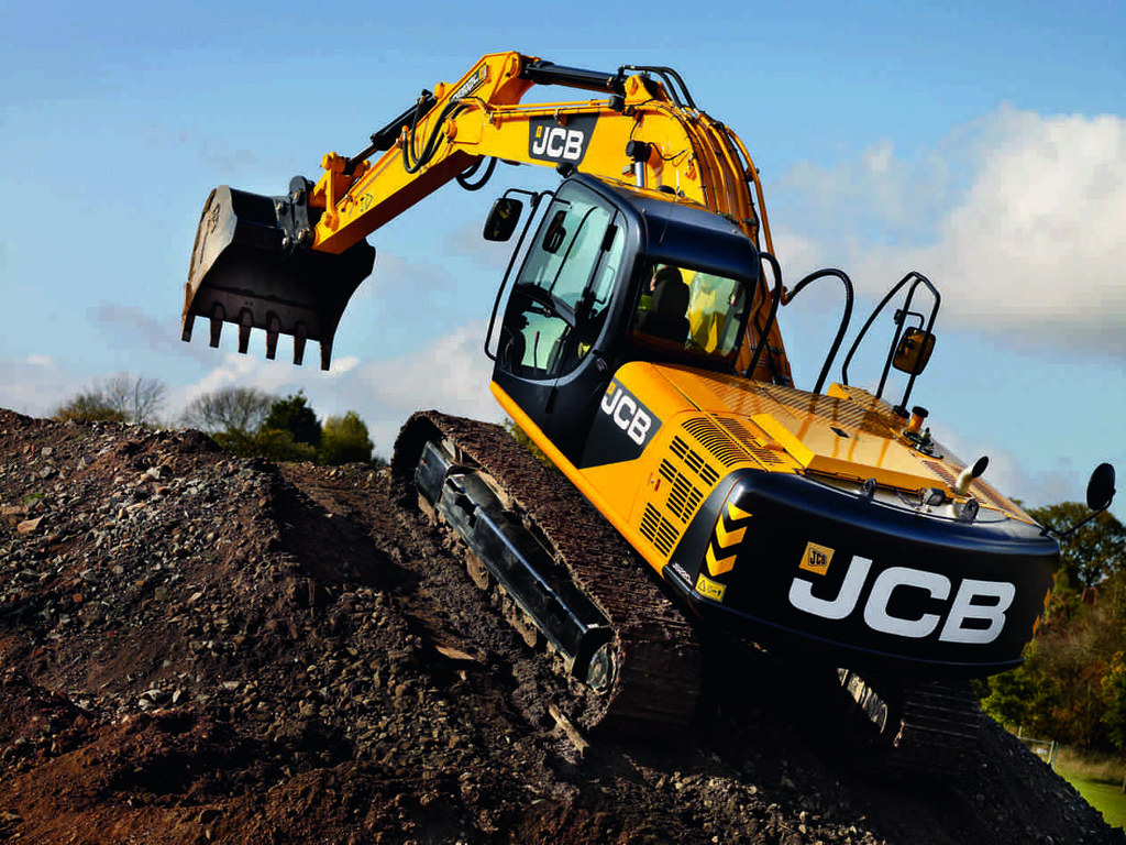 The 22-ton JCB JS220 excavator is made in Uttoxeter, Staffordshire.