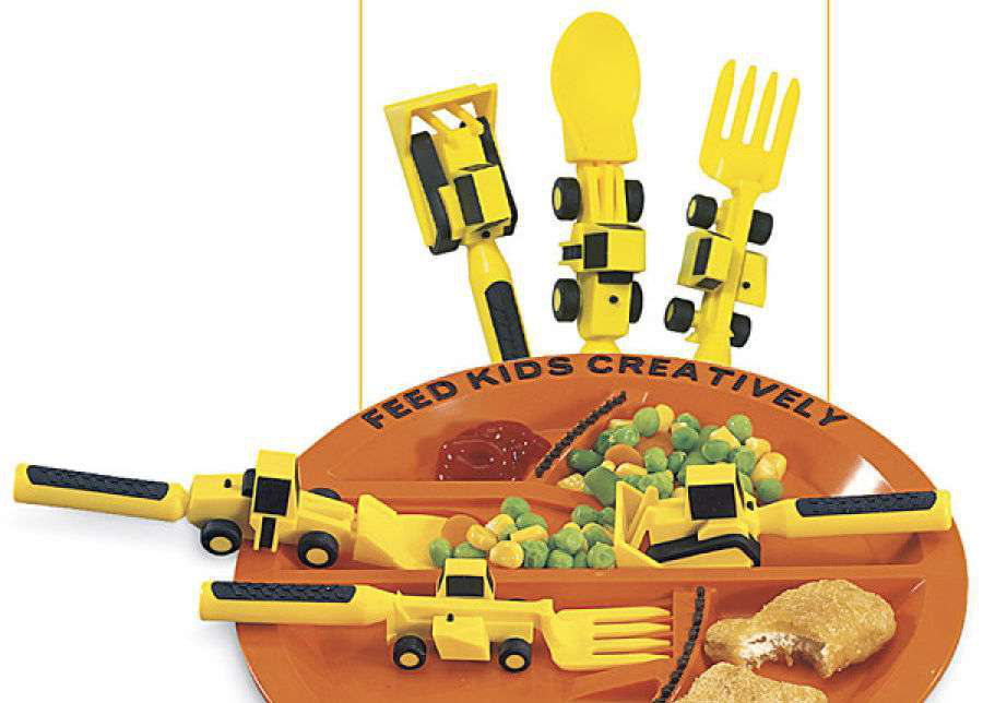 Constructive Eating Utensils and Plate set