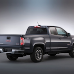 2015-GMC-Canyon-All-Terrain-Extended-Cab-Rear-Three-Quarter-in-studio-006