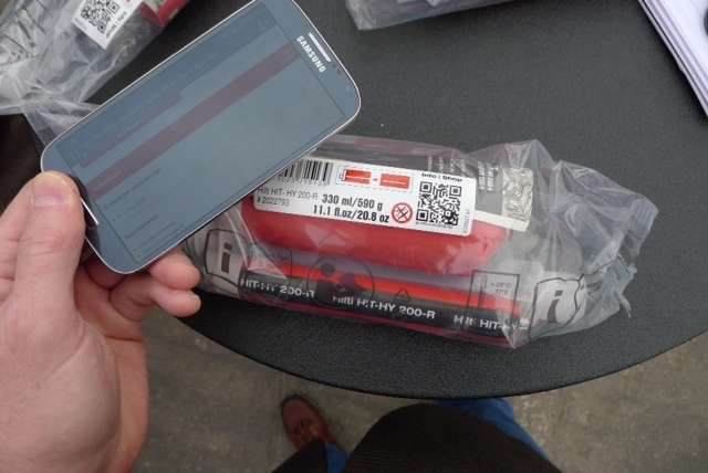 Hilti product support QR code smartphone