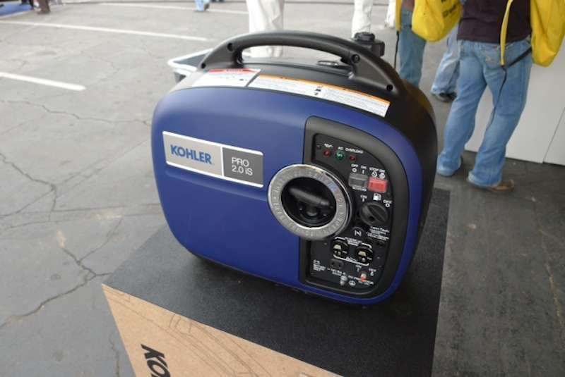 The smallest of Kohler's new portable generators, the Pro2.0iS can be easily carried by one worker.