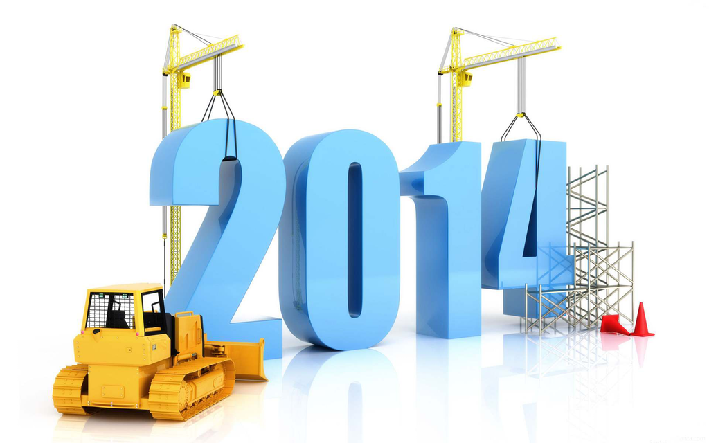 2014 New Year construction graphic