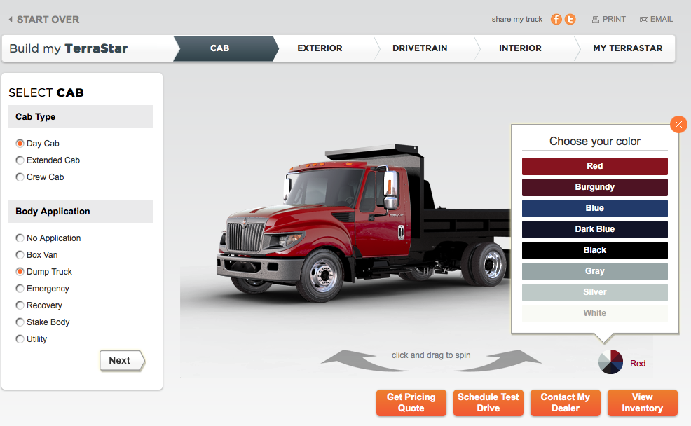 Build A Truck >> Build And Share Your Work Truck Online With Navistar S New Web