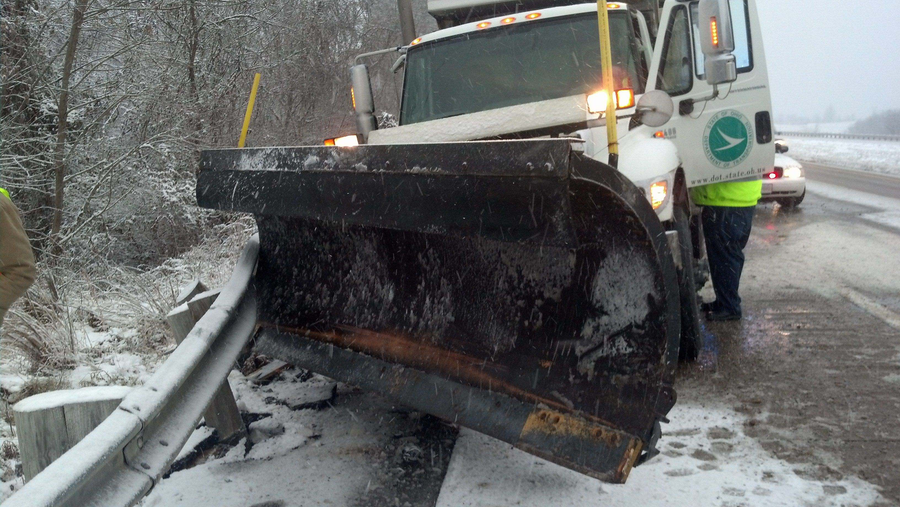 "Plowing snow is dangerous work. Not only do plow drivers have to battle snow and ice, but they must also be aware of other motorists who crowd the plow. A Washington County snowplow is struck by a motorist while plowing on Interstate 77. This was the second time this driver was hit by a motorist this year. Remember, ""Don't Crowd The Plow."""