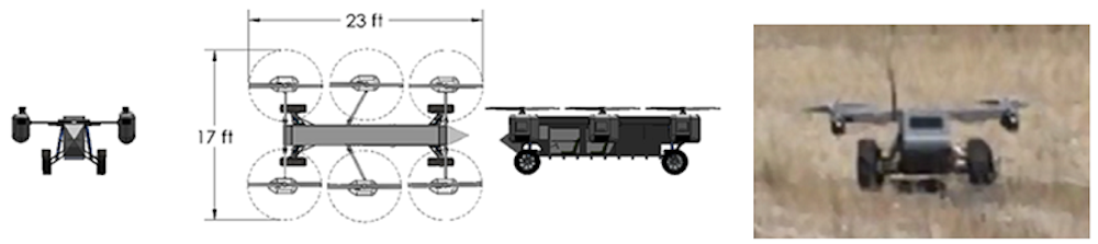 Concept drawing and photo of the smaller two-man AT Panther Transformer.