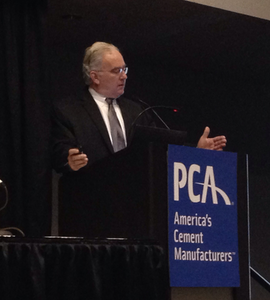 PCA chief economist Ed Sullivan speaks at World of Concrete 2014