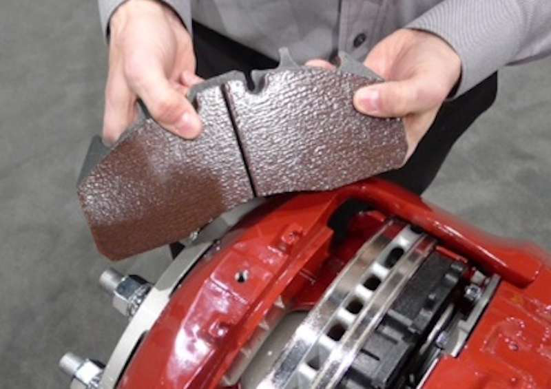 Mack Trucks air disc brake pads installation