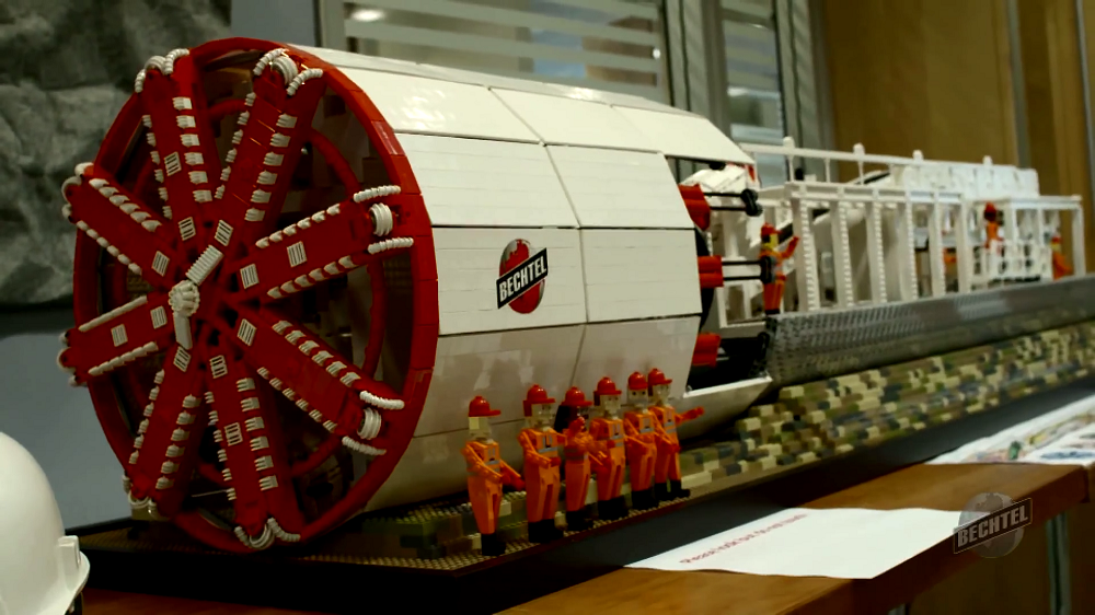 Bechtel LEGO tunnel-boring machine