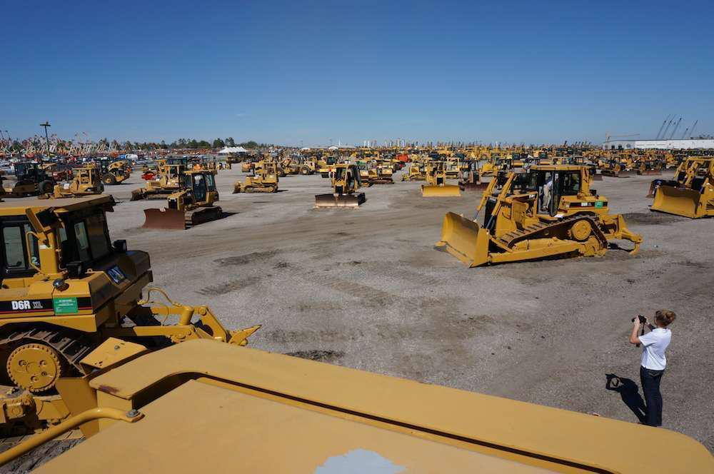 The massive Ritchie Bros. Orlando auction lot.