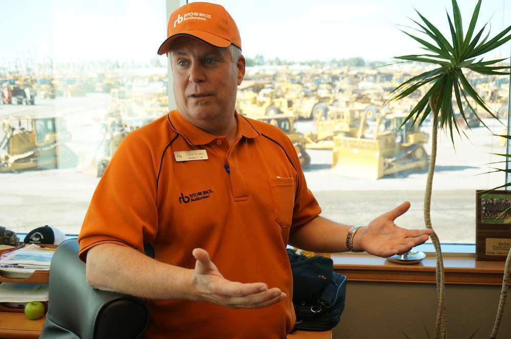 Ritchie Bros. Orlando regional sales manager Steve Kriebel