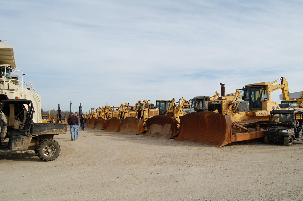A shot from the March 2013 RaCON equipment auction. The auction brought in $26 million.