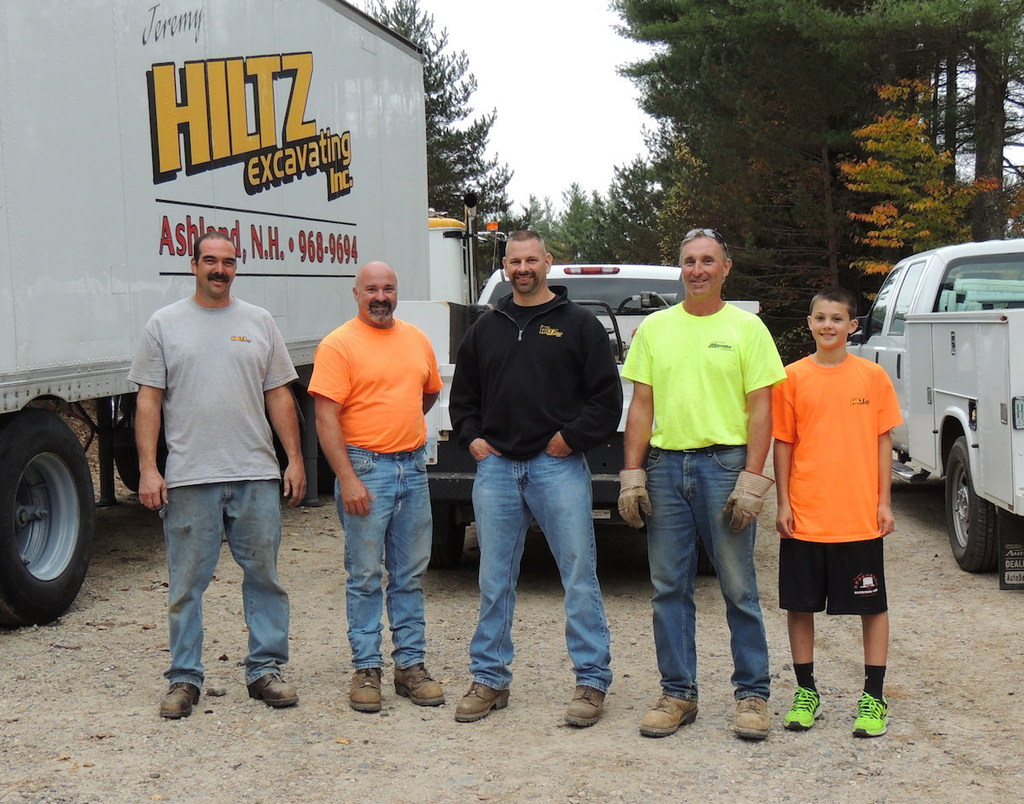 Hiltz with his crew. He took a half dozen key people to ConExpo this year as a reward for all their hard work.