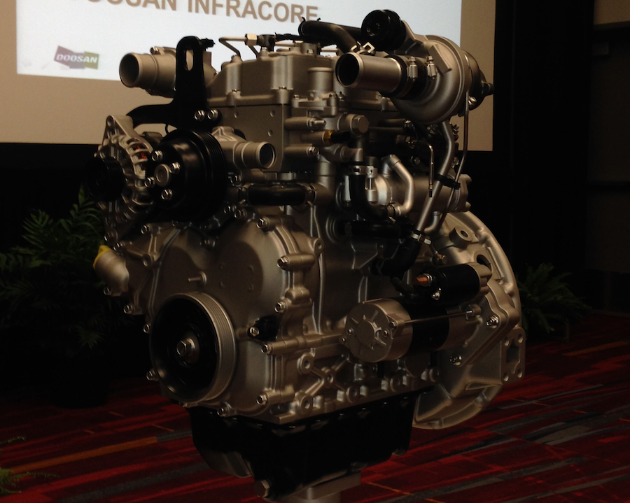 Doosan engine pic from press conference