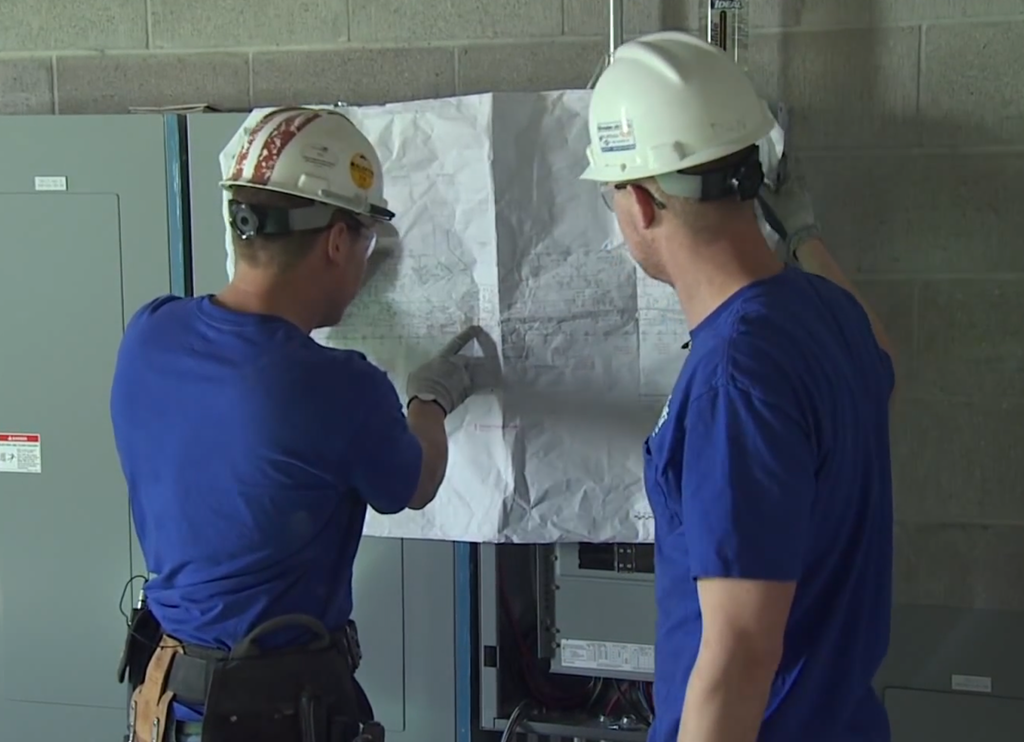 A still from the Faith Technologies Inc. recruitment video. Faith is an electrical contractor out of Menasha, Wisconsin.