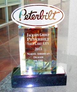 Jackson Group Peterbilt award