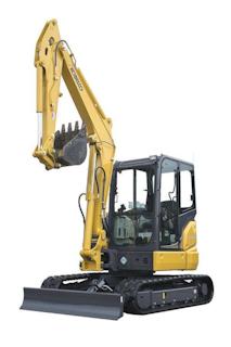 SK55SRx compact excavator
