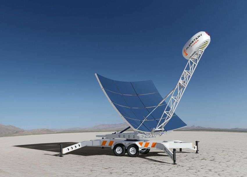 The SUNsparq's Microturbines provide up to 40 percent efficiency converting solar energy to electricity.