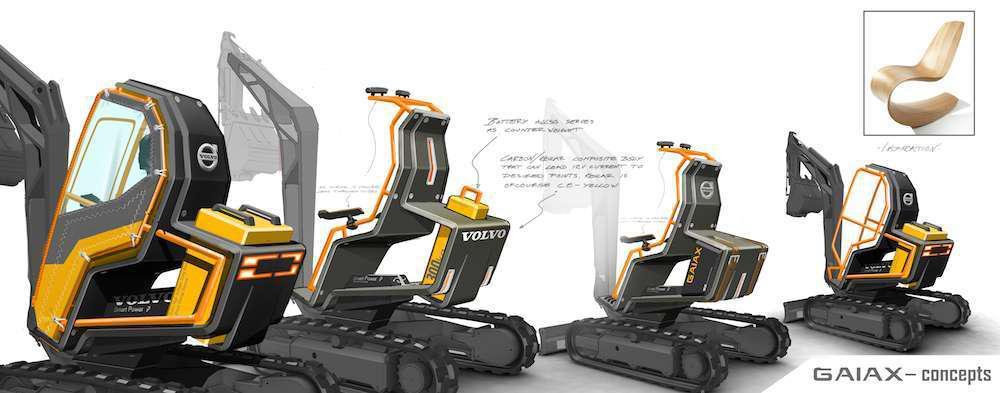 Volvo @ CONEXPO - GaiaX compact excavator concepts