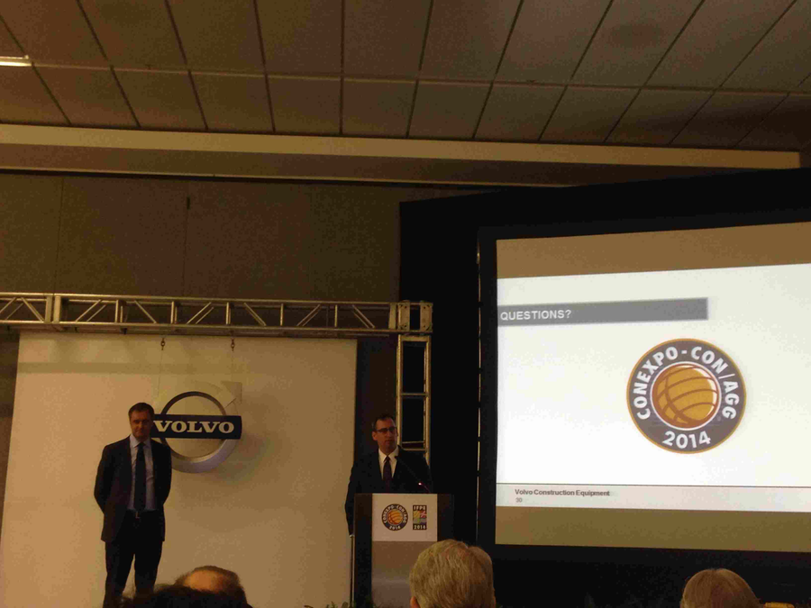 Volvo President Martin Weissburg discusses recent results and transactions at a press conference on March 5 in Las Vegas.