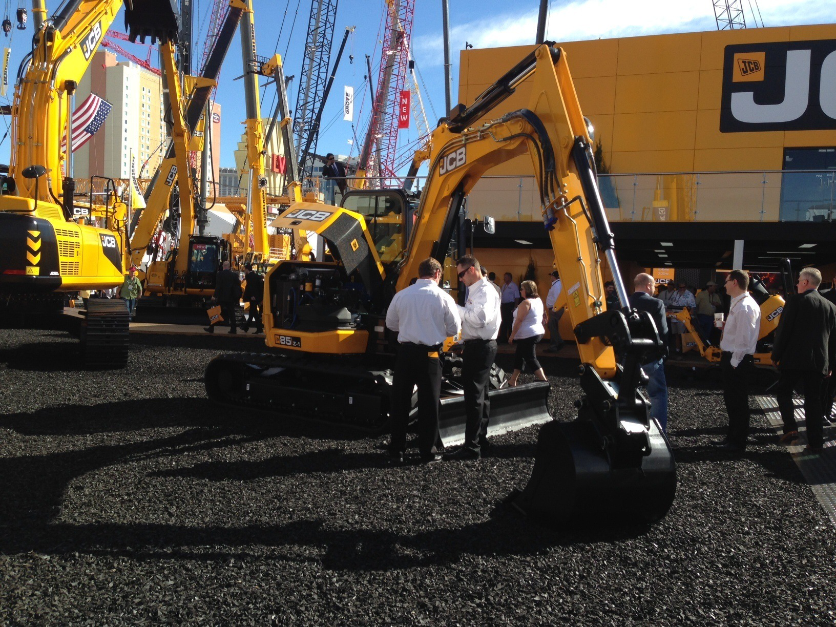 JCB's 85Z-1 midi excavator uses 10 percent less fuel than the previous model.