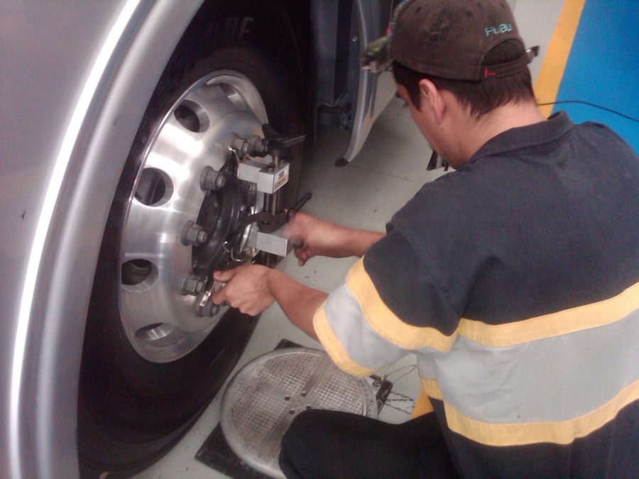 Advanced systems can be installed on each trailer tire to monitor pressure. Some systems also can keep tires properly inflated while driving. (Photo courtesy Ervin Equipment)