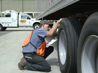 A preventative maintenance program that involves inspecting wheels, tires and duals on a regular basis can help reduce the risk of costly blowouts and downtime. (Photo courtesy of Ervin Equipment)