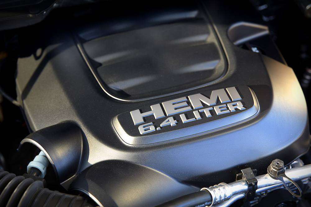 The 6.4-liter Hemi V-8 in the 2014 Power Wagon pushes 410 horsepower and 429 lb.-ft. of torque.