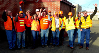 Kittitas County Public Works employees wear orange to promote National Work Zone Awareness Week. (Photo courtesy of Kittitas County Public Works)