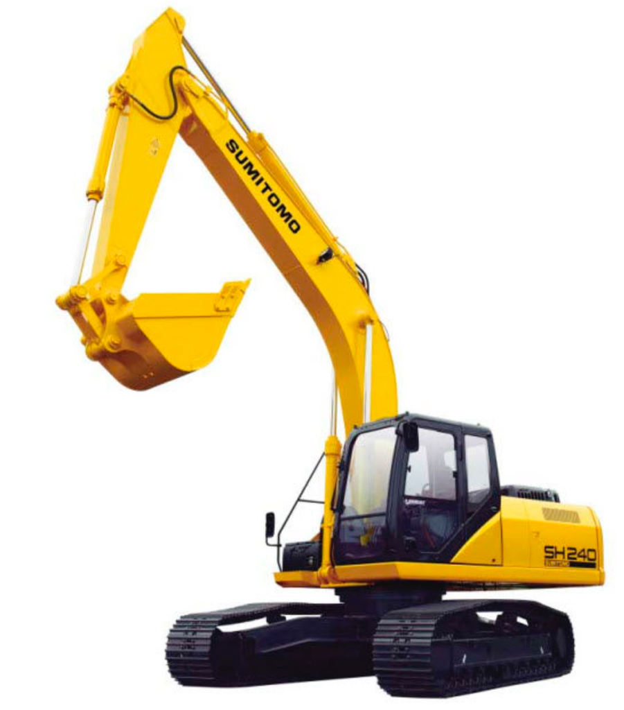 The Sumitomo SH-240 has an operating weight of 27 tons.