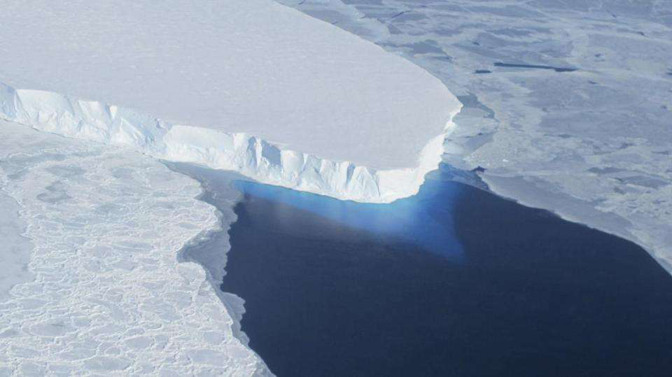 The Thwaites Glacier in Antarctica is melting and some scientists say there is no way to stop it. Credit: NASA