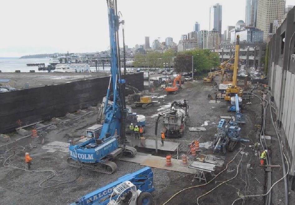 Big Bertha pit construction cam
