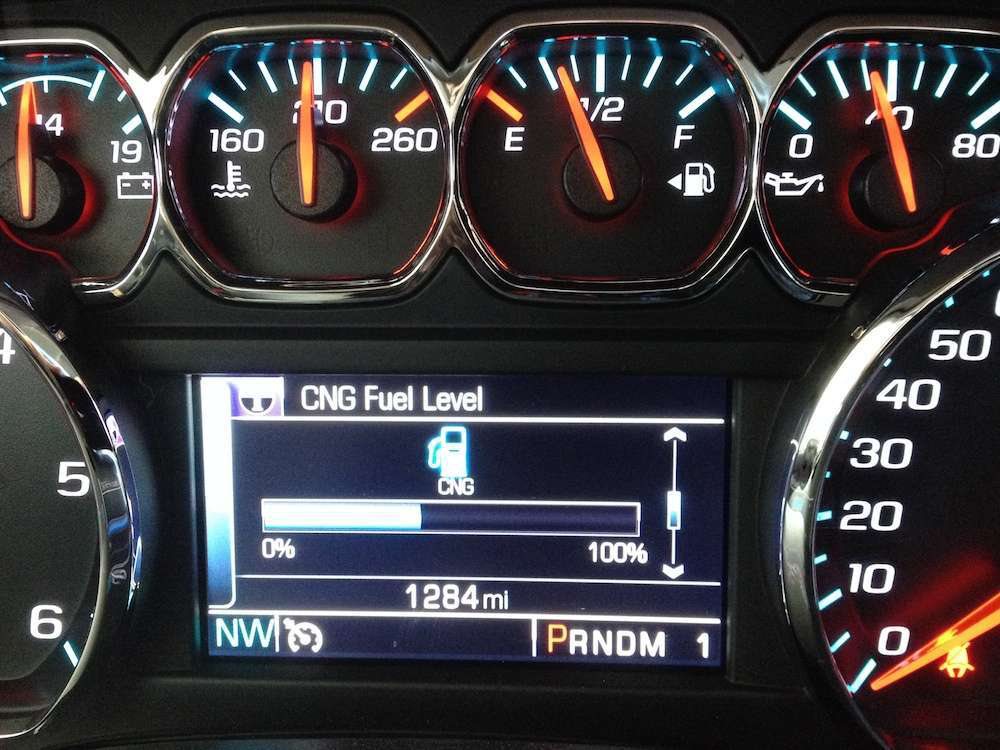 CNG fuel level