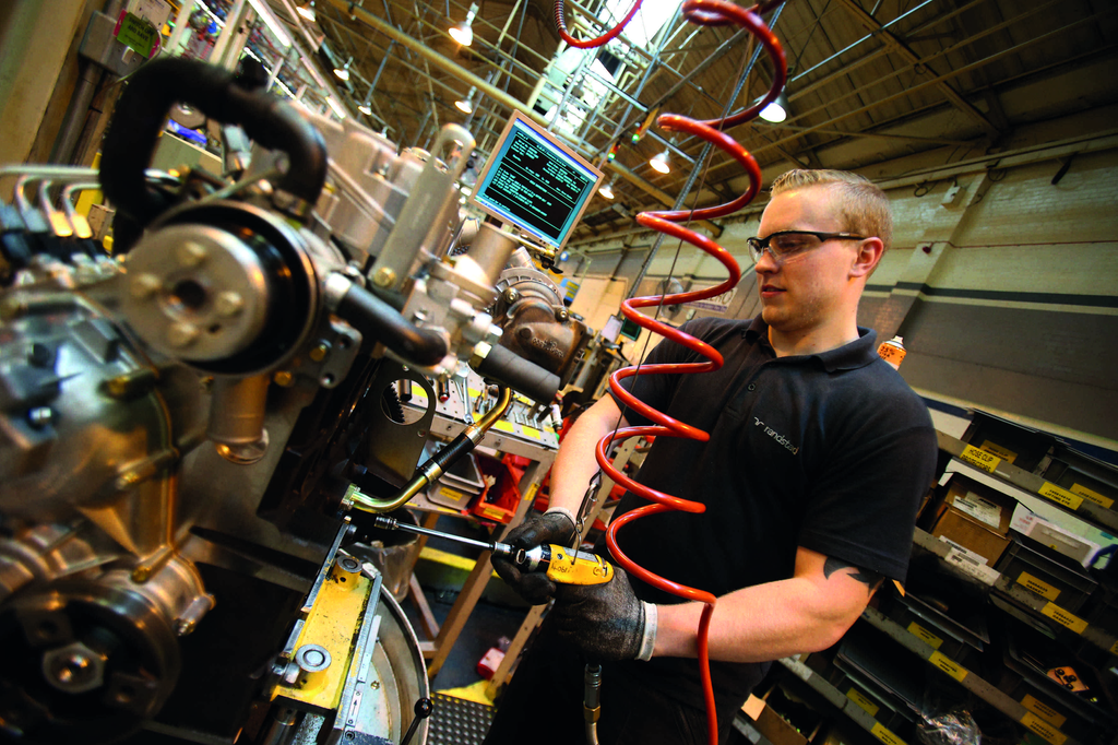 The Perkins Peterborough facility has the capacity to produce 500,000 engines a year.