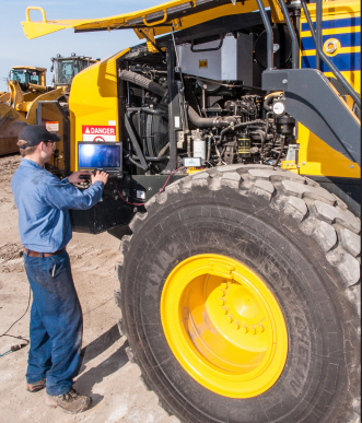 The Komatsu/NDSCS program takes about 20 months to complete, with students alternating between on-campus sessions and dealer internships.