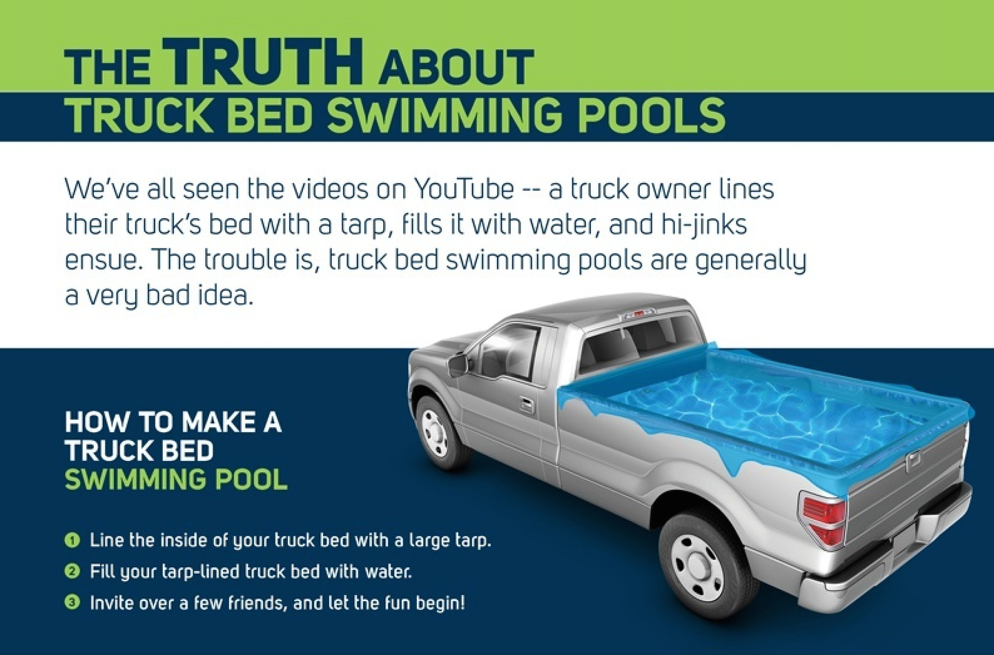 No Swimming Why Turning Your Truck Bed Into A Pool Is A Terrible Idea Equipment World